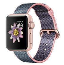 Apple Watch 2 38mm Rose Gold Aluminum Case with Light Pink/Midnight Blue Woven Nylon Band